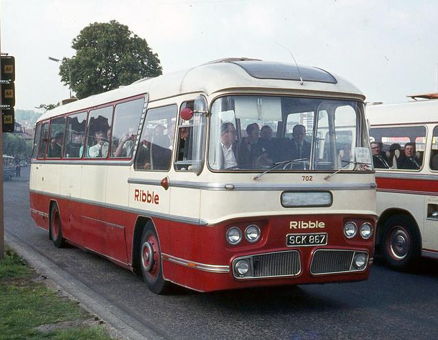 Ribble Motor Services . 702 SCK867 . Wembley , London . Saturday afternoon 09th-May-1970 .