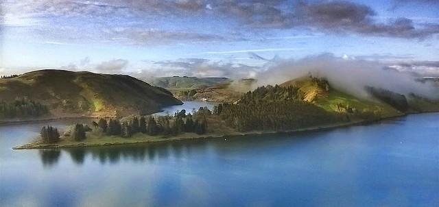 Llyn Clywedog Reservoir, Wales.