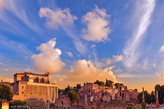 Sunset Sky of the Ancient City