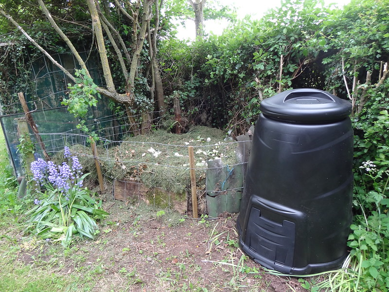 Compost pile meet compost bin