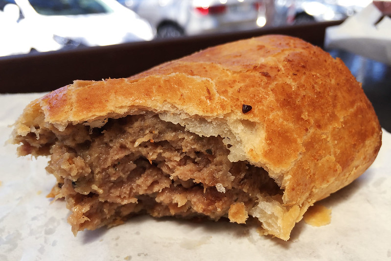 Sausage roll: Paterson's Pies, Avalon Beach