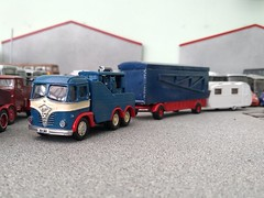 quicksilver coaches posted a photo:	In contrast to the lightweight plastic Chevrolet, another lockdown project has been this Langley Foden S20, all whitemetal and extremely heavy. The S20 cab was the steel alternative to the fibreglass 'Mickey Mouse' S21 and was quite popular on the fairs but not as durable as the S21. This one started life as a recovery vehicle but had the crane removed and an ex-military Meadows generator set (a BW Models kit) fitted in its place.