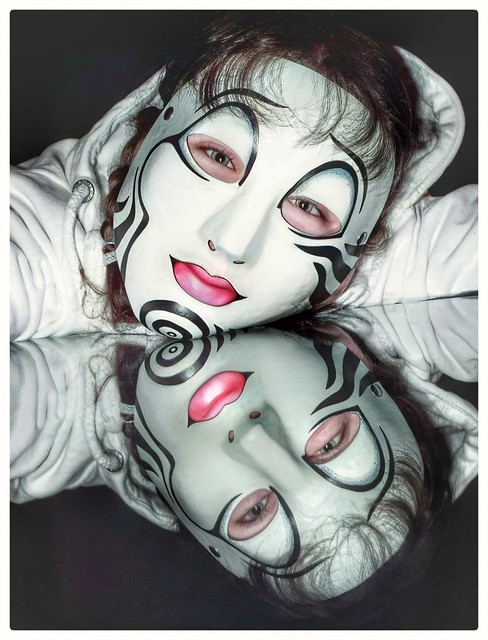 Friends in masks... This is not me, but one of my masks