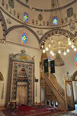 Salle de prières, mosquée de Koski Mehmed pacha, 1617, Mostar, Herzégovine-Neretva, Bosnie-Herzégovine.