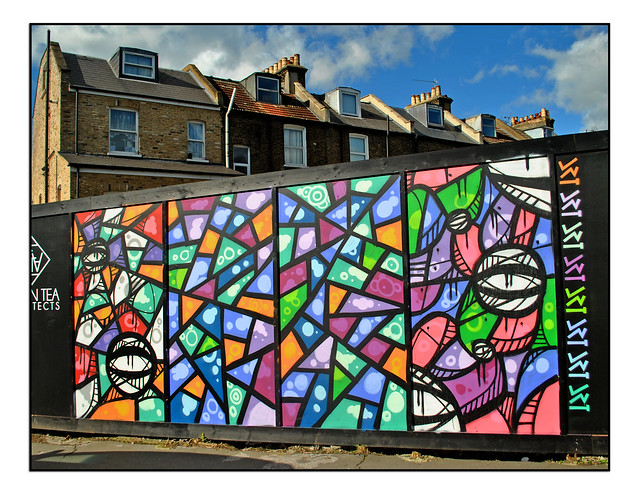 LONDON STREET ART by DRT LONDON & MANY FACES.