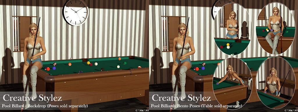 Creative Stylez – Pool Billard – Backdrop/Poses –