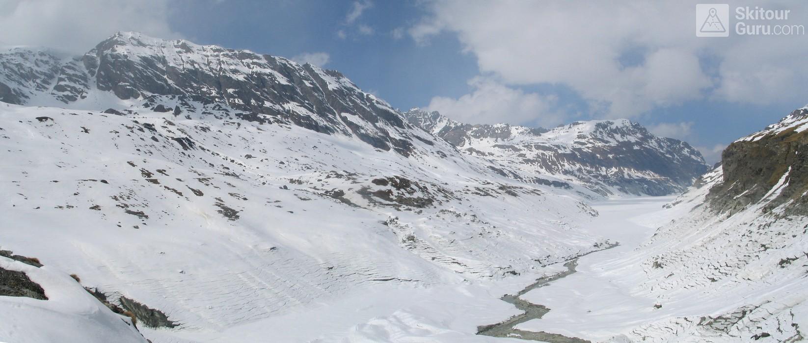 Cabane des Dix Walliser Alpen / Alpes valaisannes Švýcarsko panorama 15