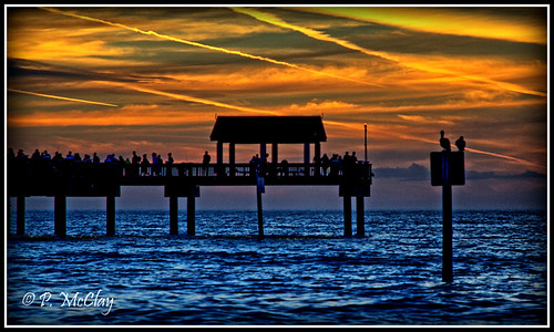 sunset sun sky pier pier60 celarwater beach ocean gulfofmexico water people stork canon eos slr rebel t1i 1785 outside outdoor florida flickr