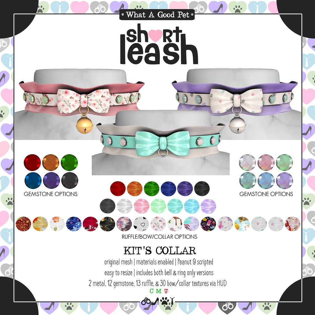 .:Short Leash:. Kit's Collar