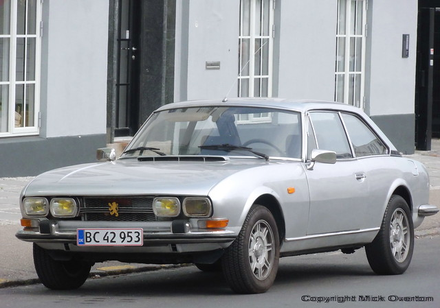 Peugeot 504 coupe BC42953 still on the roads of Denmark