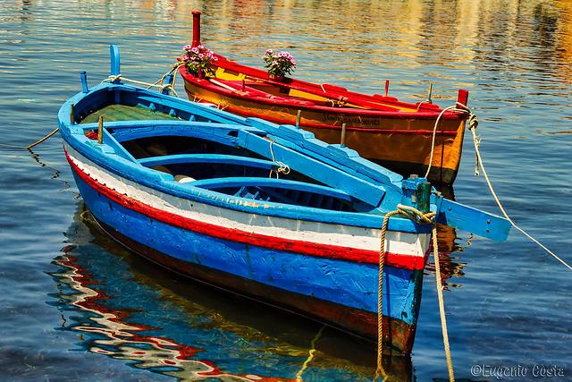Le barche di Marzamemi- The boats by Marzamemi
