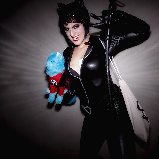 Catwoman trying to steal Dex-Starr