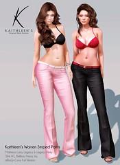 Kaithleen's Warren Striped Pants Poster web