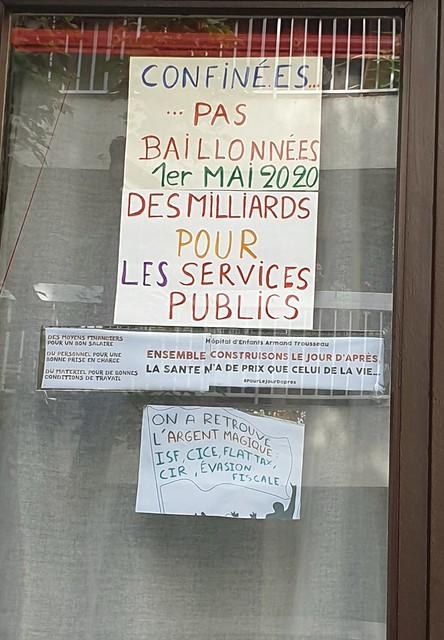 On a retrouvé l'argent magique! 55ème et dernier jour de confinement? Paris 20ème. 10 mai 2020