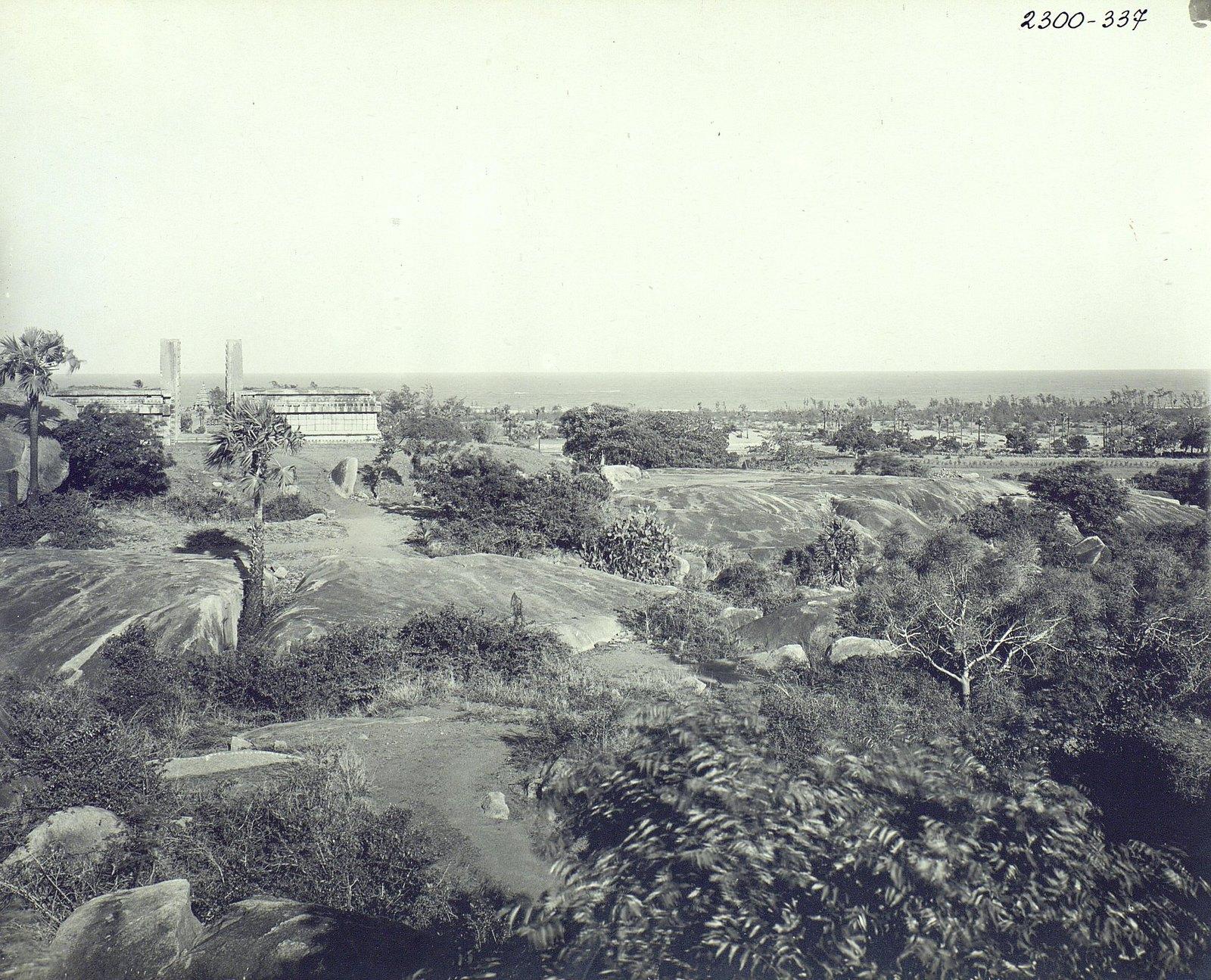Мамаллапур (общий вид местности, в которой находятся храмы) (9)