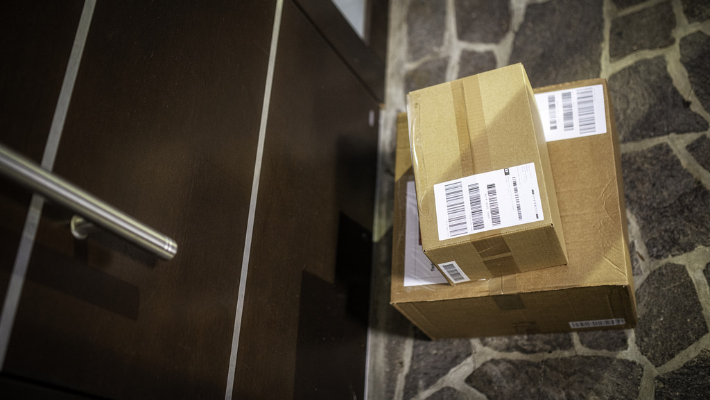 Packages on the doorstep. Credit: vm