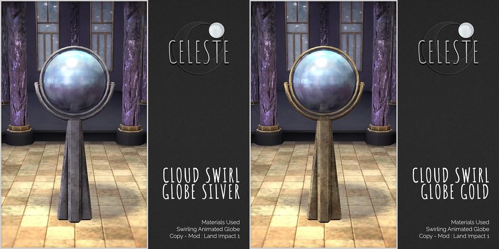 CELESTE – Cloud Swirl Globes
