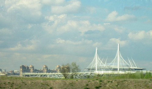 A Bridge  + Krestovsky Stadium, St Petersburg