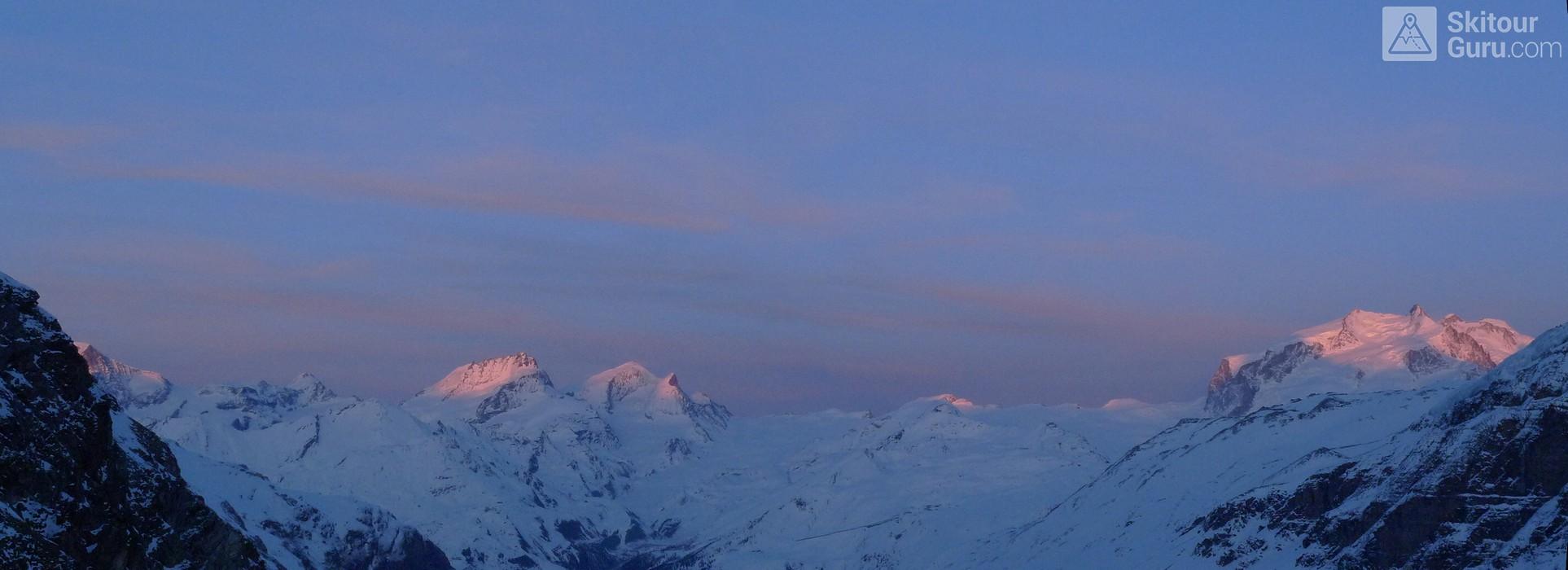 Schönbielhütte Walliser Alpen / Alpes valaisannes Switzerland panorama 24