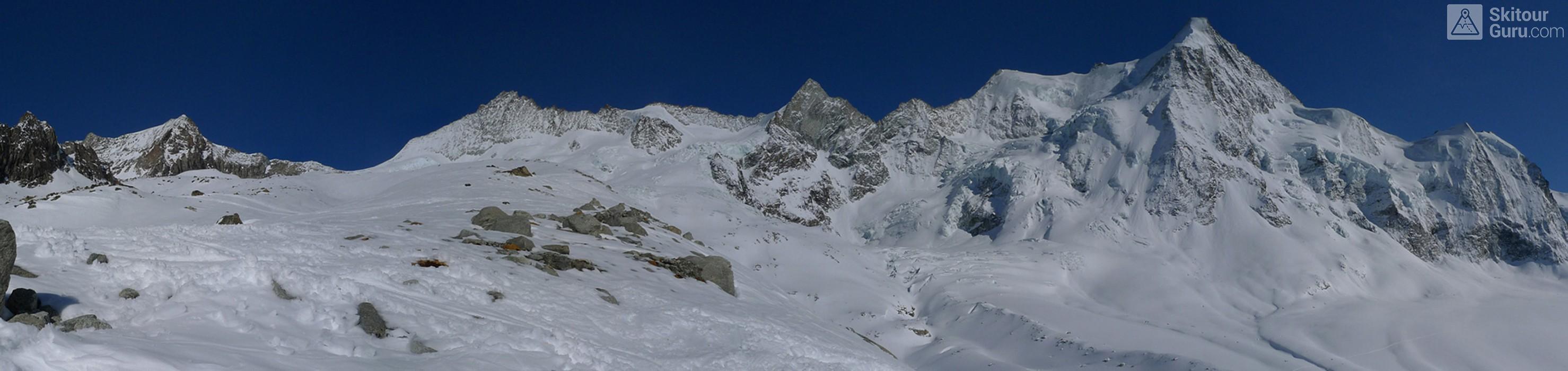 Cabane du Mountet Walliser Alpen / Alpes valaisannes Švýcarsko panorama 09