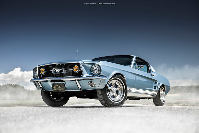 1967 Mustang Fastback in Brittany Blue - Shot 10