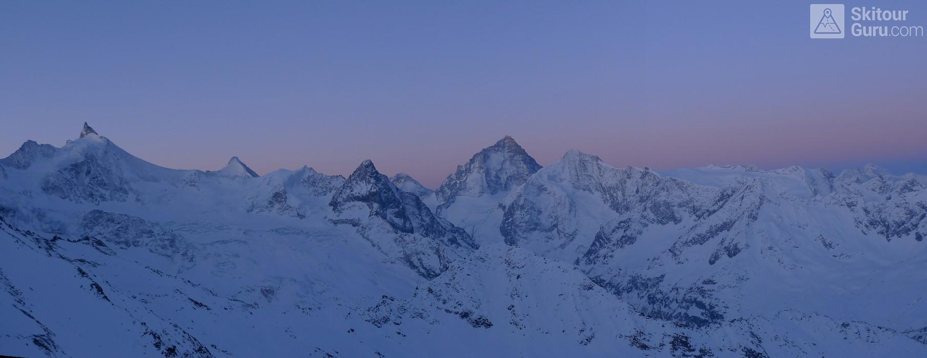 Cabane Tracuit Walliser Alpen / Alpes valaisannes Švýcarsko panorama 20