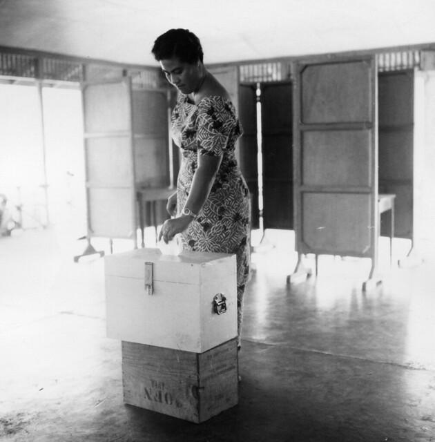 Mrs Fetaui Mata'afa, Plebiscite Day, 1961, Sāmoa