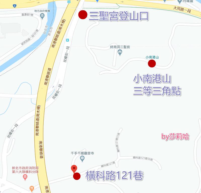 台北一日遊景點推薦小南港山登山步道地圖花費時間路線怎麼去 (1)