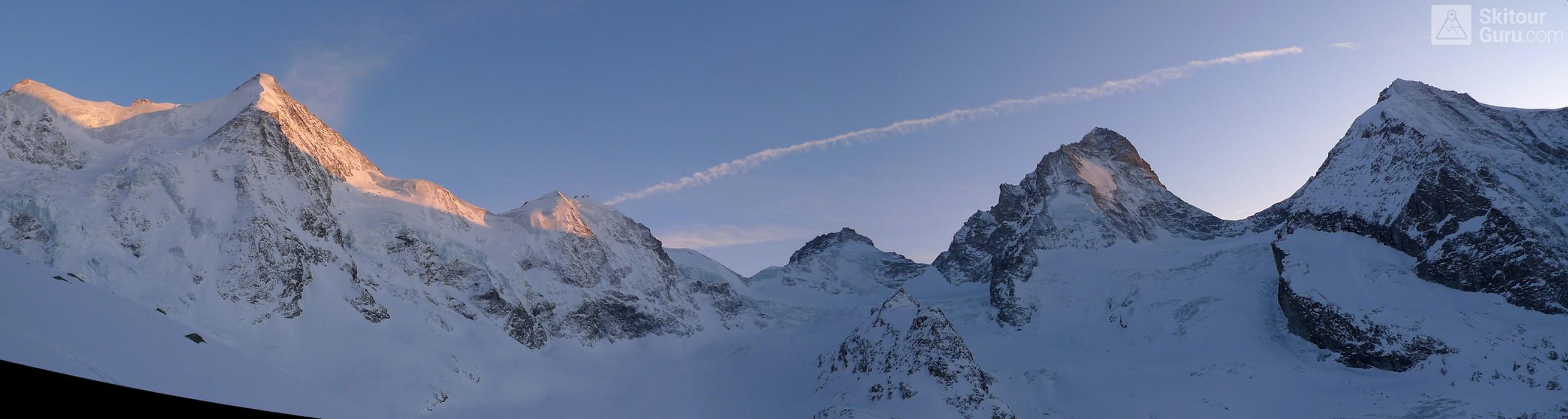 Cabane du Mountet Walliser Alpen / Alpes valaisannes Švýcarsko panorama 11