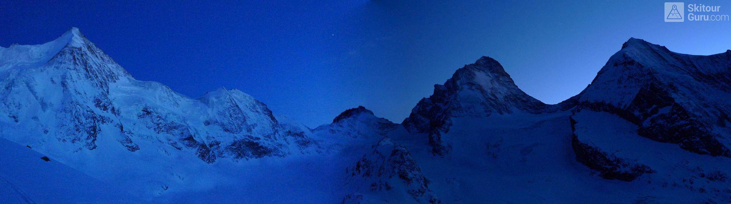 Cabane du Mountet Walliser Alpen / Alpes valaisannes Švýcarsko panorama 12