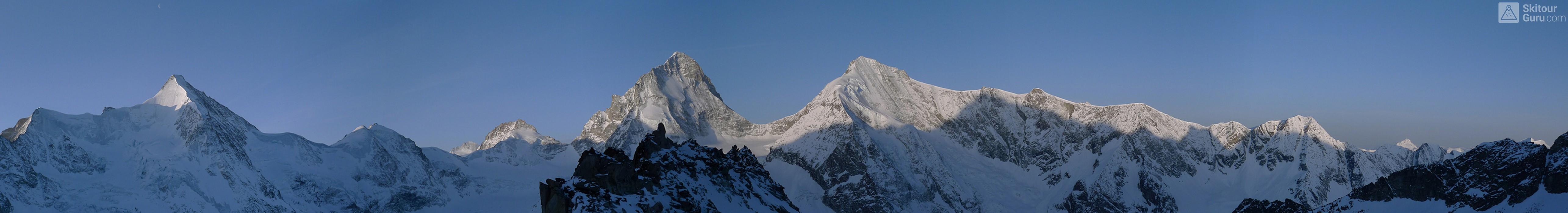 Cabane du Mountet Walliser Alpen / Alpes valaisannes Švýcarsko panorama 13