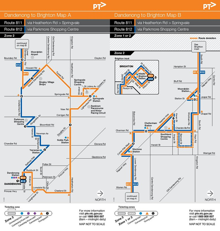 Bus 811/812 route map (PTV)