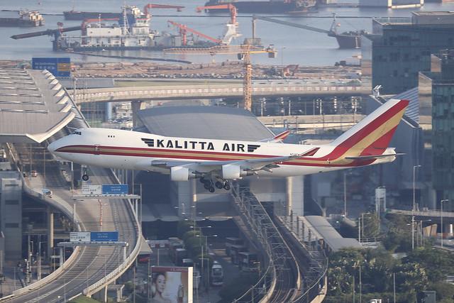 N710CK, Boeing 747-400F, Kalitta Air, Hong Kong