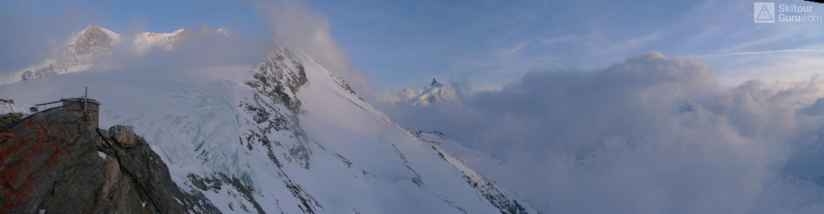 Cabane Tracuit Walliser Alpen / Alpes valaisannes Švýcarsko panorama 16