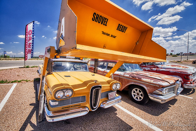 Shovel Ready Edsel at Route 66 Auto Museum in Santa Rosa, New Mexico in HDR