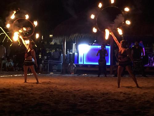 Evening entertainment on the beach, Royalton Riviera Cancun Resort & Spa, Mexico