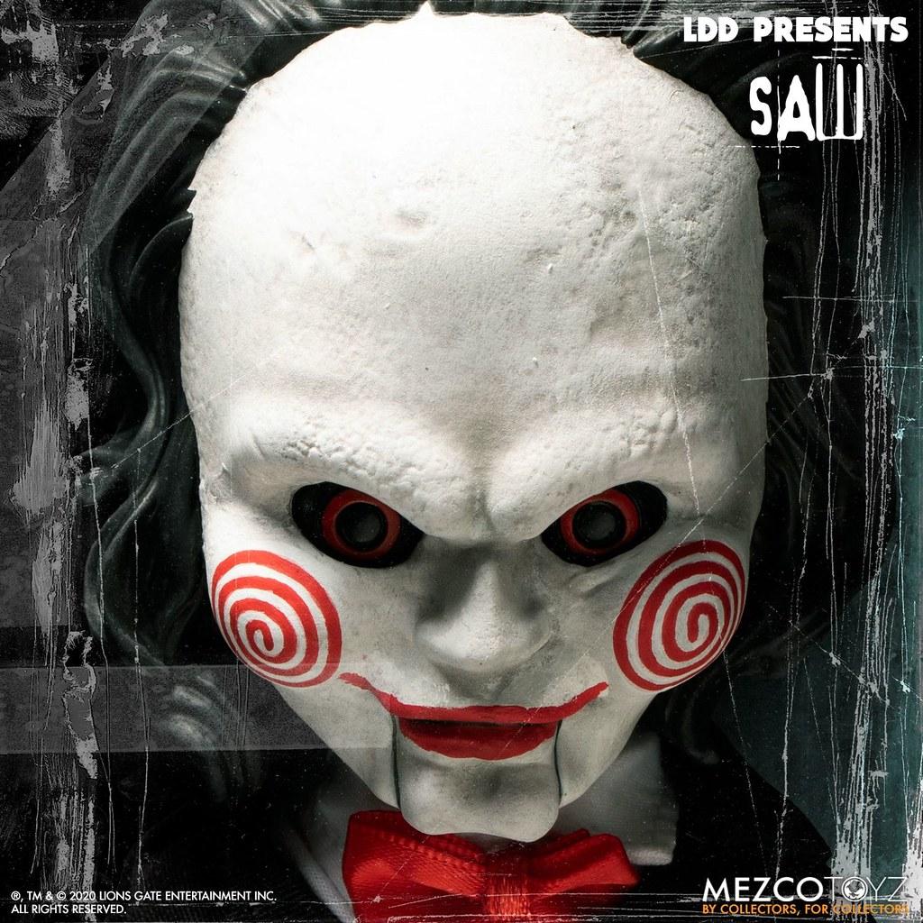 高額頭版本的恐怖木偶現身找你玩遊戲! MEZCO 活死人娃娃系列《奪魂鋸》比利 (Living Dead Dolls Presents Billy)