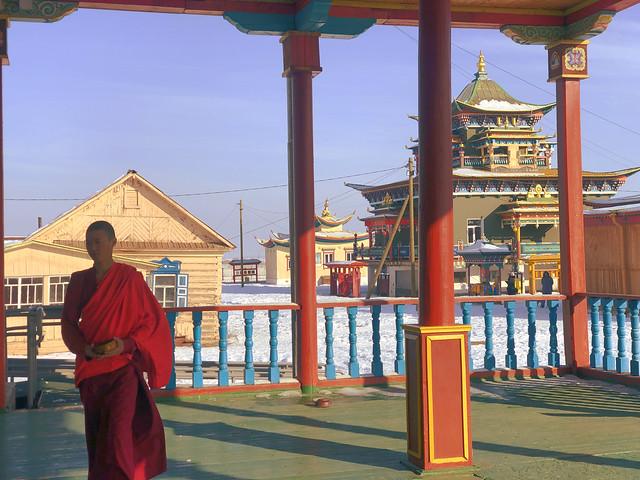 Monje budista en Ivolginsky Datsan, el corazón del budismo en Rusia