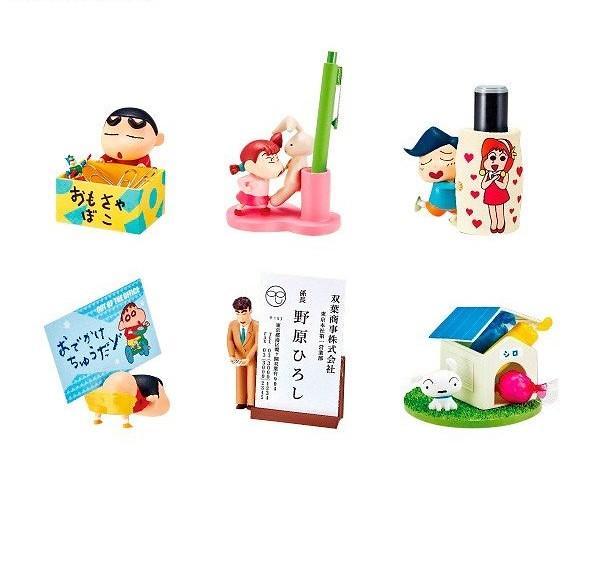 讓最討厭收拾房間的小新幫你收納桌面小物~RE-MENT《蠟筆小新》桌上小物盒玩(クレヨンしんちゃん デスクでお助けするゾ!)全六種