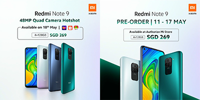Redmi Note 9 will be available in three colours, Midnight Grey, Forest Green and Polar White.