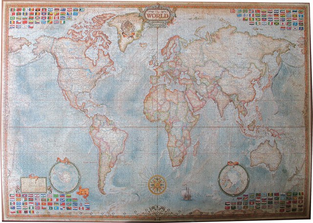 EDUCA 4000 ART 136X96CM 14827 THE WORLD EXECUTIVE MAP C2011/C2016