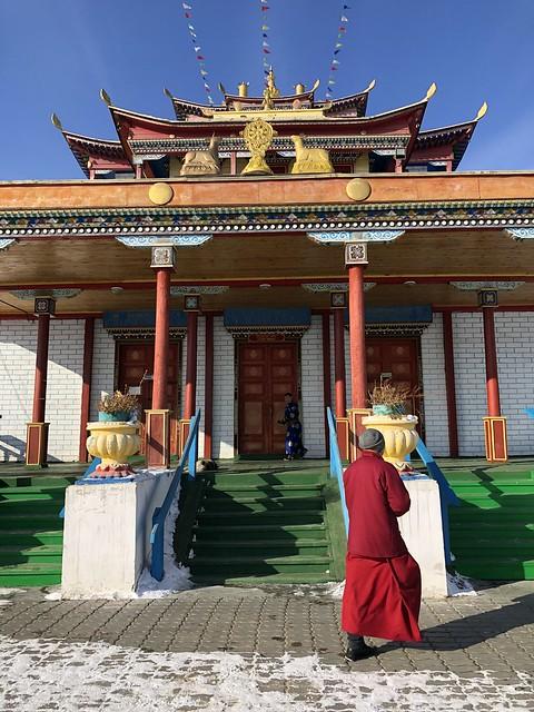 Templo principal del conjunto monástico budista Ivolginsky Datsan, muy cerca de UIan Ude en Rusia