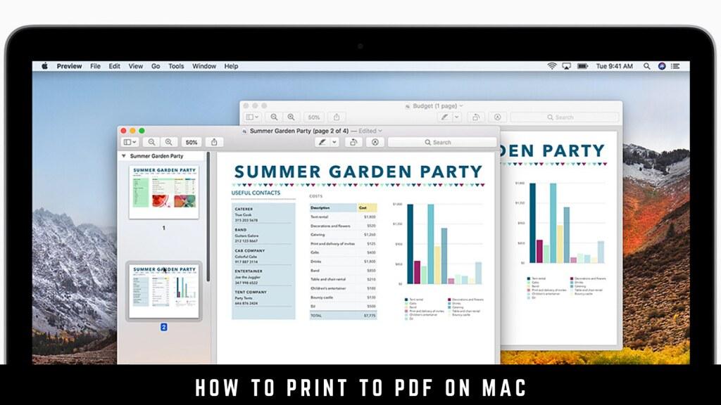 How to Print to PDF on Mac
