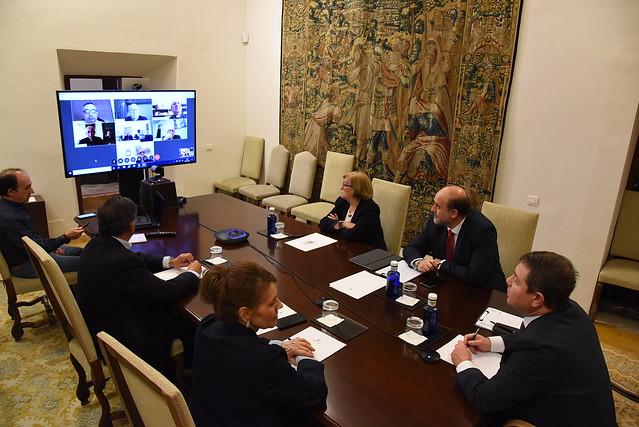 Videoconferecia con los obispos de las diócesis de la región