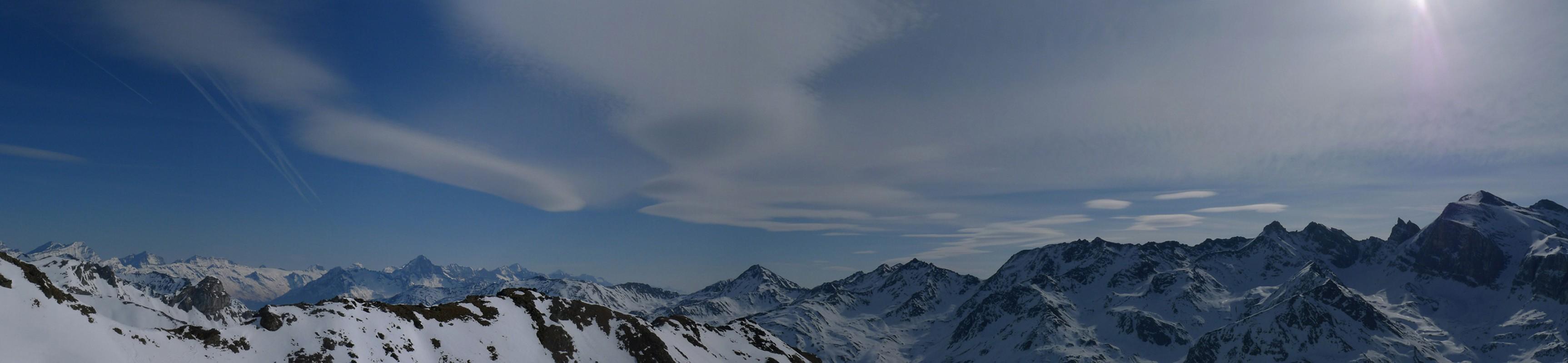 Turtmannhütte / Cabane Tourtemagne  Walliser Alpen / Alpes valaisannes Switzerland panorama 10