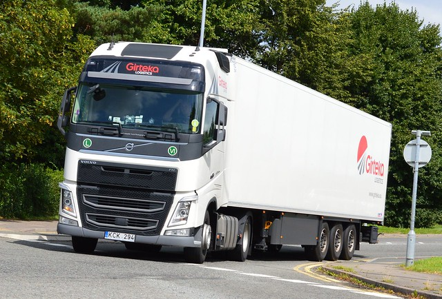 Girteka Logistics KCK 294 (Lithuania) At Welshpool
