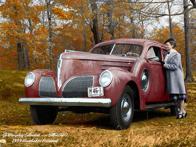 1939 Studebaker President Club Sedan Colorized