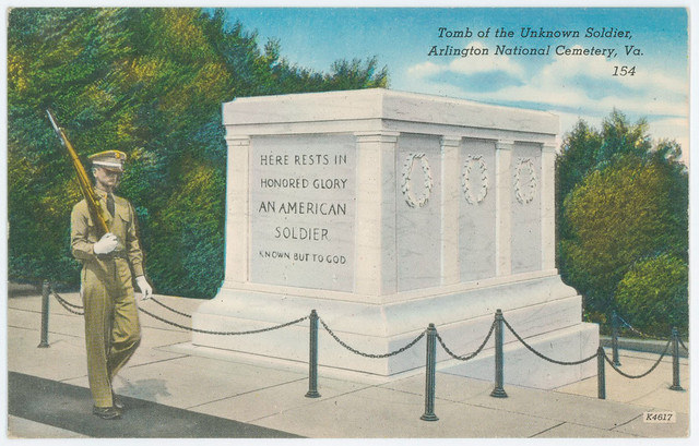 1950 circa-Postcard-Tomb of the Unknown Soldier
