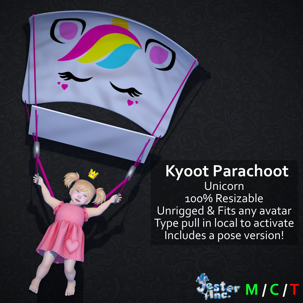 Presenting the new Kyoot Parachoot from Jester Inc.