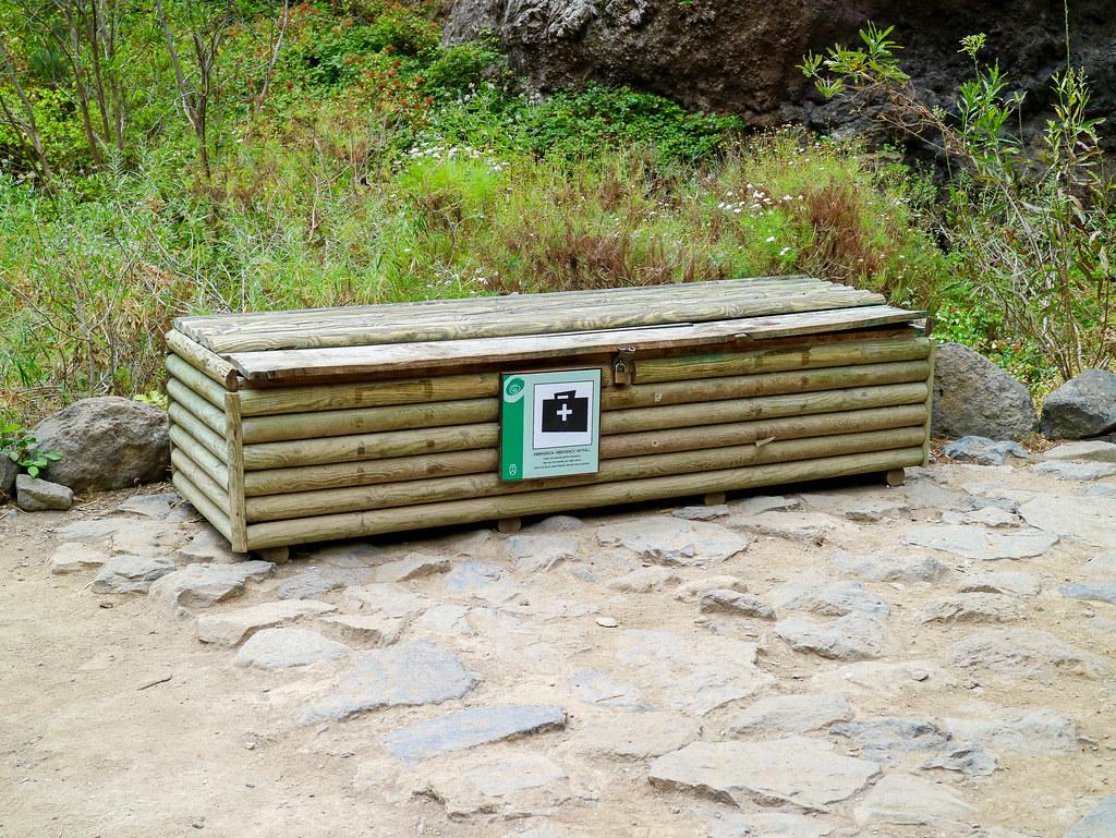 Zona de seguridad en el Barranco del Infierno